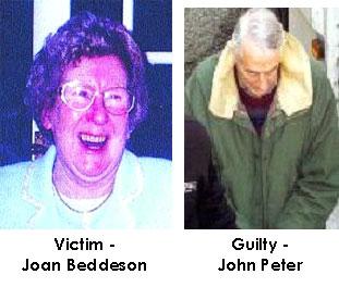 fotografie della vittima e l'imputato